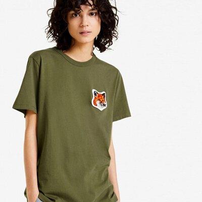 Maison Kitsuné絨毛狐狸短袖T恤