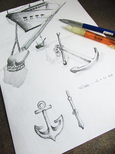 船錨飾品設計圖