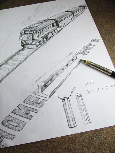 鐵軌飾品設計圖