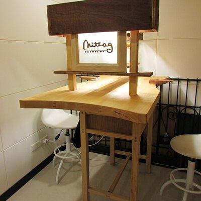 mittag銀飾在木微加家具特別訂製的金工工作桌