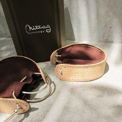 mittag銀飾的真皮皮套包裝用於手環商品