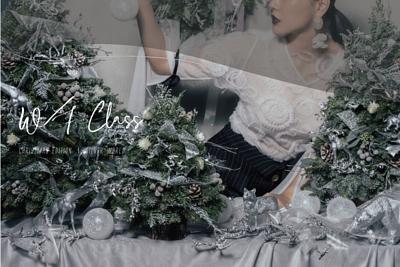 聖誕花藝 - 銀白世界花藝課程