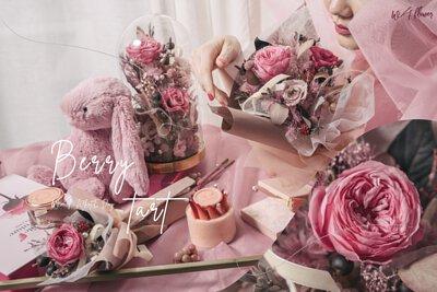 W/F 白色情人節永生 - 莓果塔系列