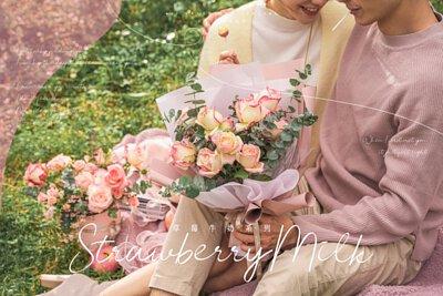浪花情人節花禮 - 草莓牛奶鮮花系列
