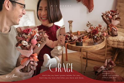 GRACE 典雅莓紅系列永生花