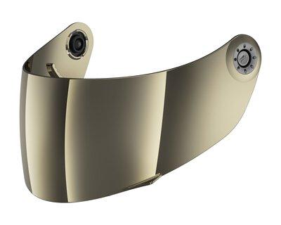 SHARK VISOR MIRRORED GOLD