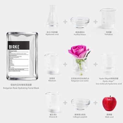 保加利亞玫瑰保濕面膜成份圖