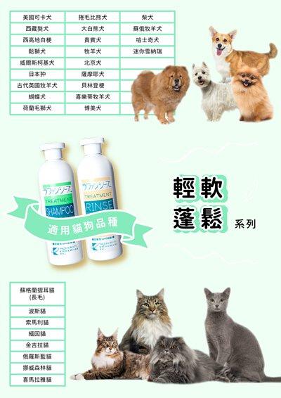 Lafancy's shampoo 輕軟蓬鬆系列適用犬貓