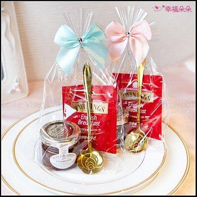皇家認證唐寧英倫茶包+英國Tiptree果醬+玫瑰湯匙禮物包(粉色&藍綠色蝴蝶結隨機出貨)