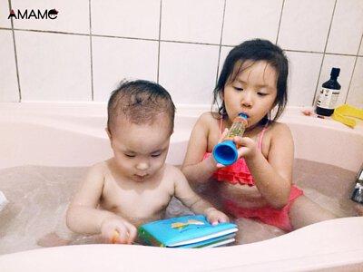 亮亮媽專欄,洗澡好好玩,趣味滿滿不間斷。