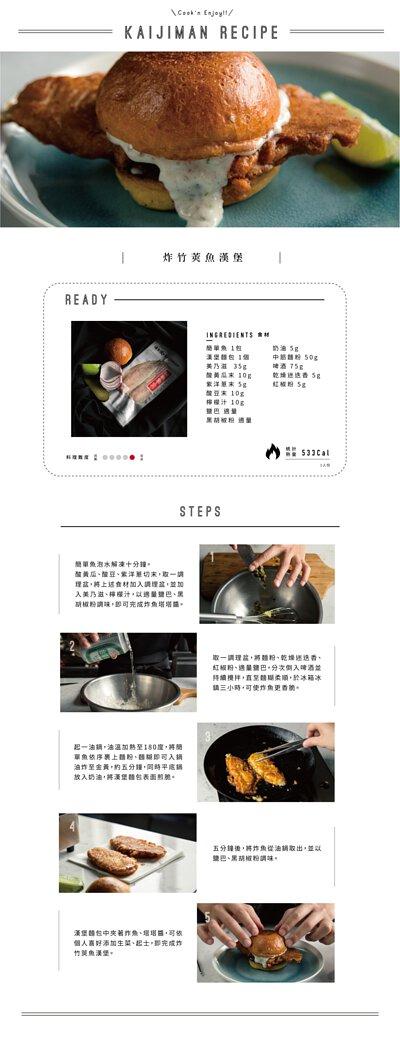 炸竹莢魚漢堡