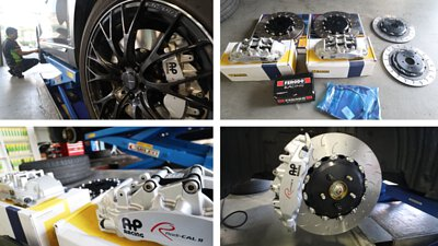 英國AP RACING 9560 大六活塞卡鉗+390MM AP魚鉤盤+義大利FERODO來令片+ 後380加大碟|MAZDA 馬自達 CX-9