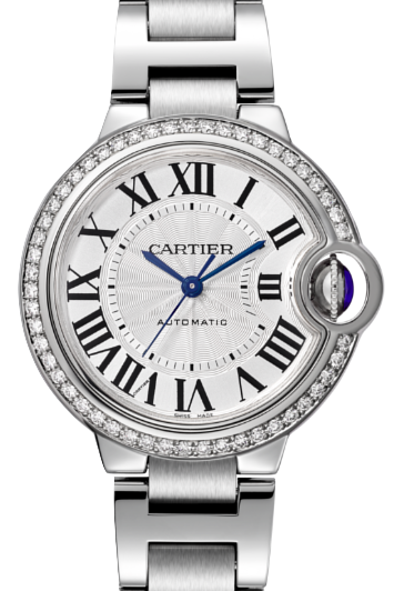 Cartier卡地亞手錶款式-BALLON BLEU 藍氣球系列 精鋼鍊帶+鑽石.33mm