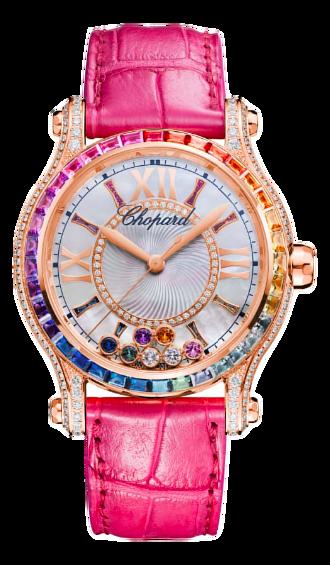 Chopard蕭邦錶-HAPPY SPORT系列  36mm彩色寶石自動上鍊女錶