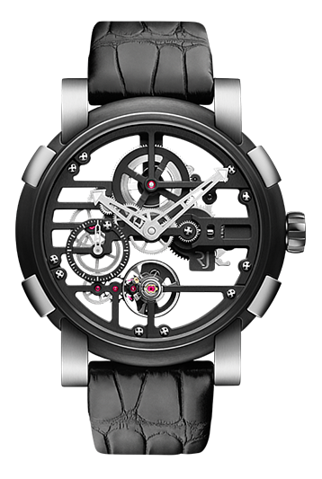 RJ watch手錶-SKYLAB  48 STEEL BLACK   限量發行99枚  RJ.M.AU.030.01
