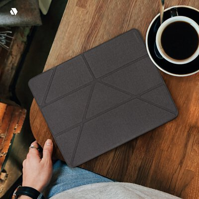 JTLEGEND iPad Air 10.9吋 Amos 相機快取多角度折疊保護套放在桌上