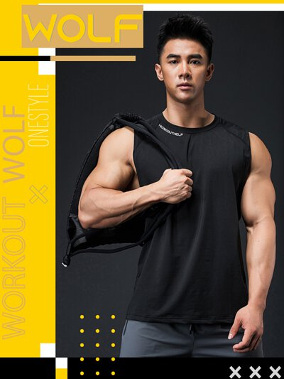 onestyle,健身用品店,短褲,健身房,gym,猛男,wolf,短袖,背心,外套,健身服飾