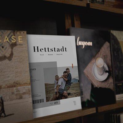 雜誌本放在架上展示,隨處可見隨心拿取閱讀