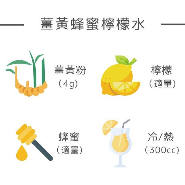 薑黃蜂蜜檸檬水
