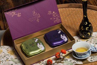 喜堂 為誰香茶葉禮盒(金萱150克+四季春150克) 2010年GD-Mark優良設計產品嚴格認証