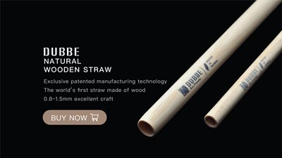 DUBBE Natural Wooden Straw,eco straw,straw