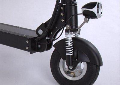 電動滑板車的前輪避震器