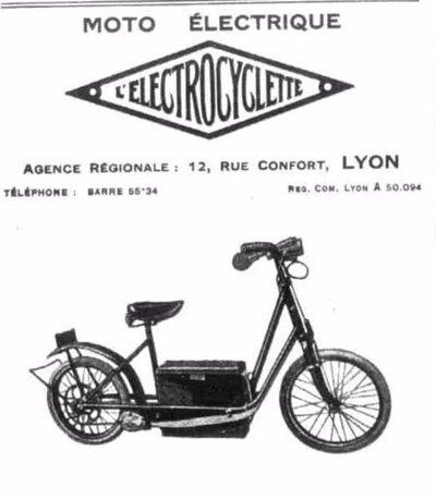 電力驅動自行車的廣告