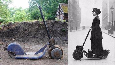 1919年的油動滑板車-Autoped