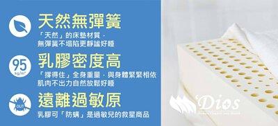 高密度乳膠床墊,密度D110乳膠,乳膠床墊,迪奧斯天然乳膠床墊,密度95乳膠,健康2.0推薦,全乳膠床墊,乳膠床墊優缺點,乳膠床墊清洗,選擇乳膠床高度