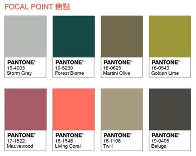 pantone 色彩配色推薦|焦點