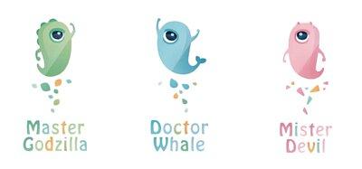 小怪獸一代 跳蛋 三隻 哥斯拉大師 鯨魚博士 惡魔先生