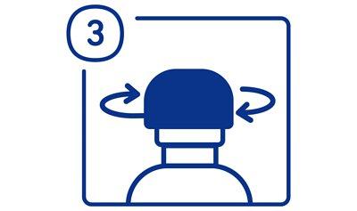 加護靈置放型使用方法步驟三,蓋上藍色外蓋,放置在需要的空間即可,15分鐘後將形成凝膠狀。