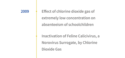 2009年有二氧化氯對學齡兒童缺勤的影響及諾羅病毒的影響等兩篇文獻