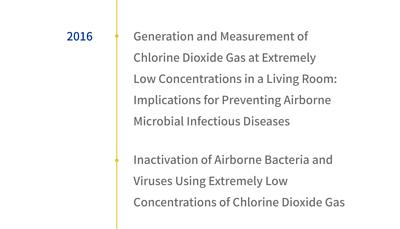 2016年有二氧化氯低濃度可預防病毒相關文獻兩篇