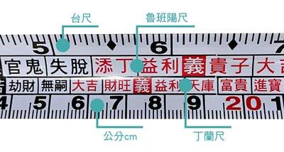 魯班尺可測量床墊尺寸