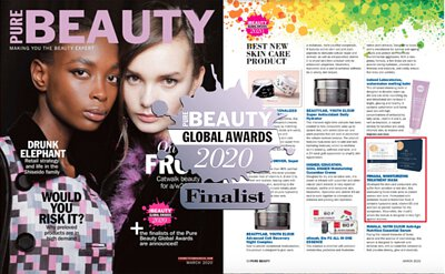 frnasa-pure-beauty-global-awards,英國美妝奧斯卡,台灣面膜,2020最強面膜,保濕面膜,抗老緊緻面膜,美白面膜,亮白集中,傳明酸,維生素B5,維生素B3,玻尿酸,南極醣蛋白,二胜肽,四胜肽,六胜肽