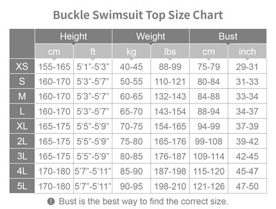 Heroine Swim Chest Binder Size Chart
