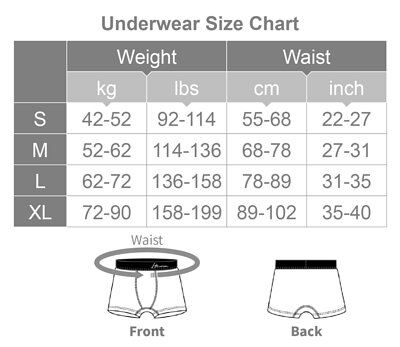Heroine Underwear Chest Binder Size Chart