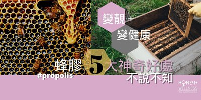 蜂膠 (Propolis) 是由蜂蜜從樹木上採收的樹脂和植物精華,回巢後混入蜂蠟及分泌物所製成的天然膠狀物質蜂膠,蜂膠用作防禦病毒細菌侵害蜂巢及幼蟲, 成了大自然當中最佳的防禦物質。蜂膠蘊含維他命、礦物質、胺基酸及生物類黃酮等300多種對人體有益物質