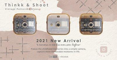 Thinkk & SHOOT digital camera - Vintage Patterned Glass Collection