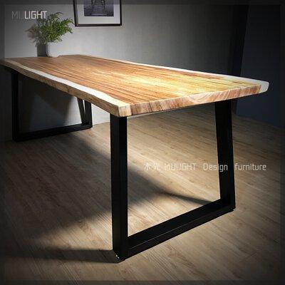 木光雨豆木餐桌/原木餐桌