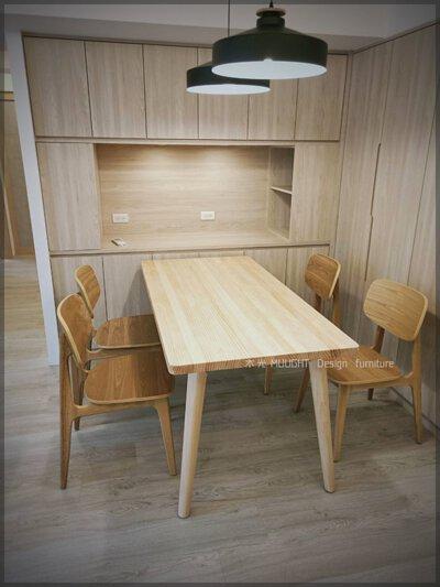 訂製款Finn北歐全實木餐桌