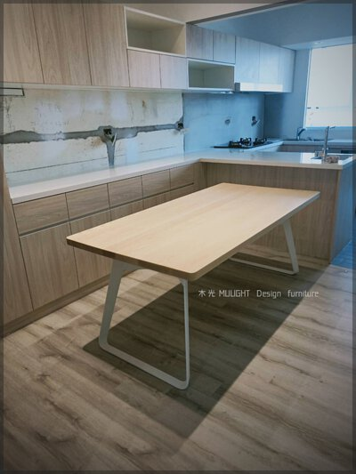 Bianca-北歐造型扁腳實木桌(可訂製)