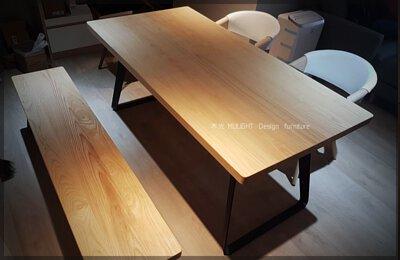 TA0075北歐工業風訂製實木餐桌