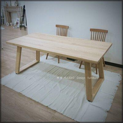 Grace-北歐斜腳全實木桌(可訂製)