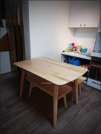 Finn北歐梣木全實木餐桌(可訂製)