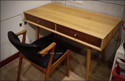 絕美雙色全實木收納工作桌(可訂製)