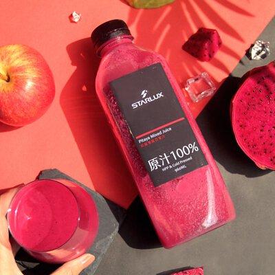 STARLUX | 純在冷壓鮮榨蔬果汁三瓶組, 火龍果