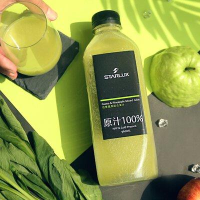 STARLUX, 純在冷壓鮮榨蔬果汁三瓶組, 星宇航空, 芭樂. 鳳梨