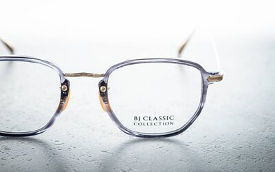 【限定賽璐珞 灰玳瑁配色 BJ CLASSIC X THE NEW BLACK OPTICAL COM-562 HANDMADE CELLULOID IN JAPAN】
